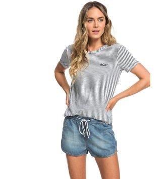 ROXY Music Never Stop Denim Shorts - Medium Blue