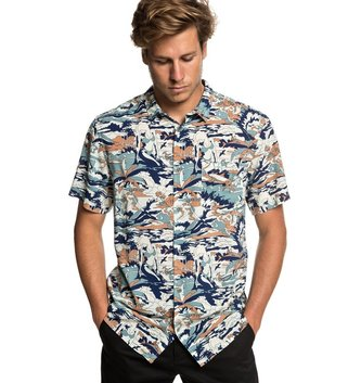 QUIKSILVER Feeling Fine Short Sleeve Shirt - Stormy Sea Feeling Fine