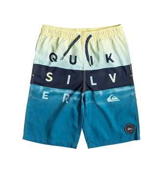 "QUIKSILVER Boy's 2-7 Word Block 14"" Volleys - Southern Ocean"