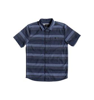 QUIKSILVER Boy's 8-16 Hotel Diva Short Sleeve Shirt - Blue Night