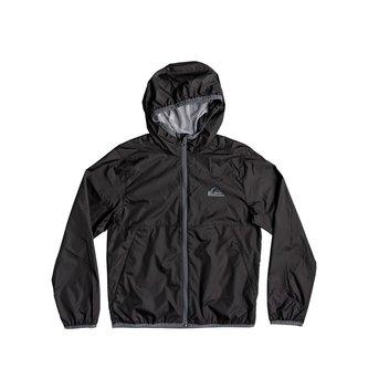 QUIKSILVER Boy's 8-16 Contrasted Hooded Water-Repellent Windbreaker - Black