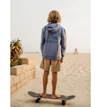 QUIKSILVER Boy's 8-16 Spring Roll Hoodie - Stone Wash