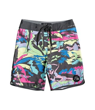 "Boy's 8-16 Highline Feelin Fine 17"" Boardshorts - Blue Graphite"