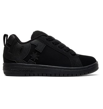 DC FOOTWEAR Kid's Court Graffik Shoes - Black/Black