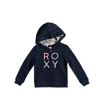 ROXY Girl's 2-6 Make It Easy Zip-Up Hoodie - Dress Blues