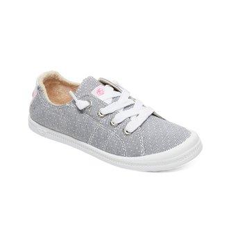 ROXY Girl's 7-14 Bayshore Shoes - Grey/White