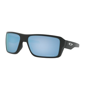 OAKLEY Double Edge™ Matte Black Sunglasses w/ Prizm Deep Water Polarized Lens