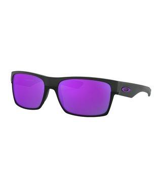 TwoFace™ Matte Black Sunglasses w/ Violet Iridium Lens