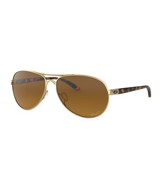 Feedback™ Polished Gold Sunglasses w/ Brown Gradient Polarized Lens