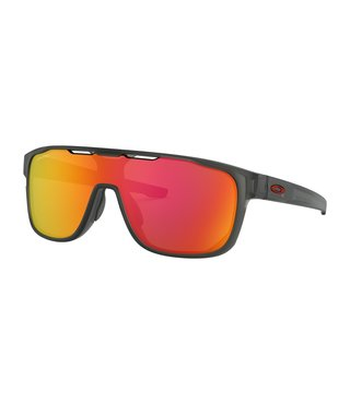 Crossrange™ Shield Matte Grey Smoke Sunglasses w/ Prizm Ruby Lens