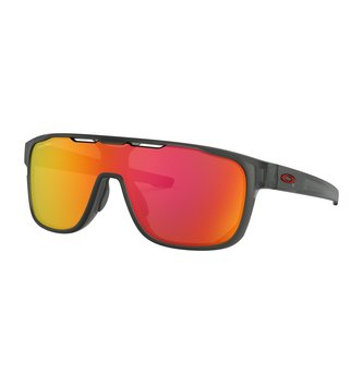 OAKLEY Crossrange™ Shield Matte Grey Smoke Sunglasses w/ Prizm Ruby Lens