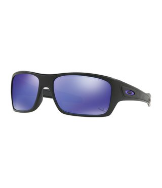 Turbine™ Matte Black Sunglasses w/ Violet Iridium Lens
