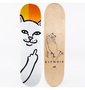 """RIPNDIP 8.25"""" Ripndip Lord Nermal Split Veneer Skateboard Deck"""