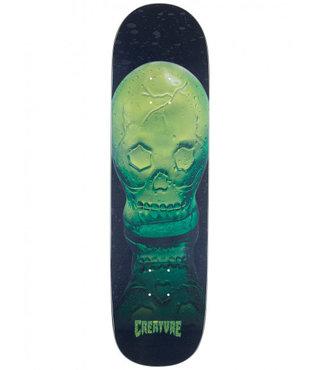 "9.16"" x 30.55"" Creature Green Skull Everslick Skateboard Deck"