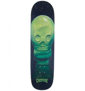 "Creature Skateboards 9.16"" x 30.55"" Creature Green Skull Everslick Skateboard Deck"