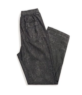 Steady Elastic Waistband Pant - Black Acid Wash