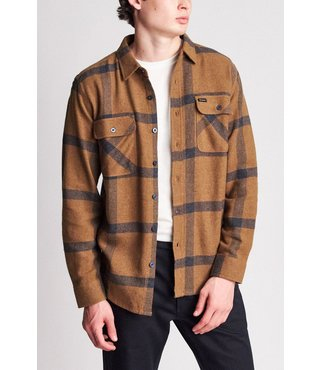 Bowery Long Sleeve Flannel Shirt - Gold/Navy