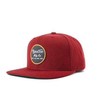 Wheeler Snapback Hat - Burgundy/Black