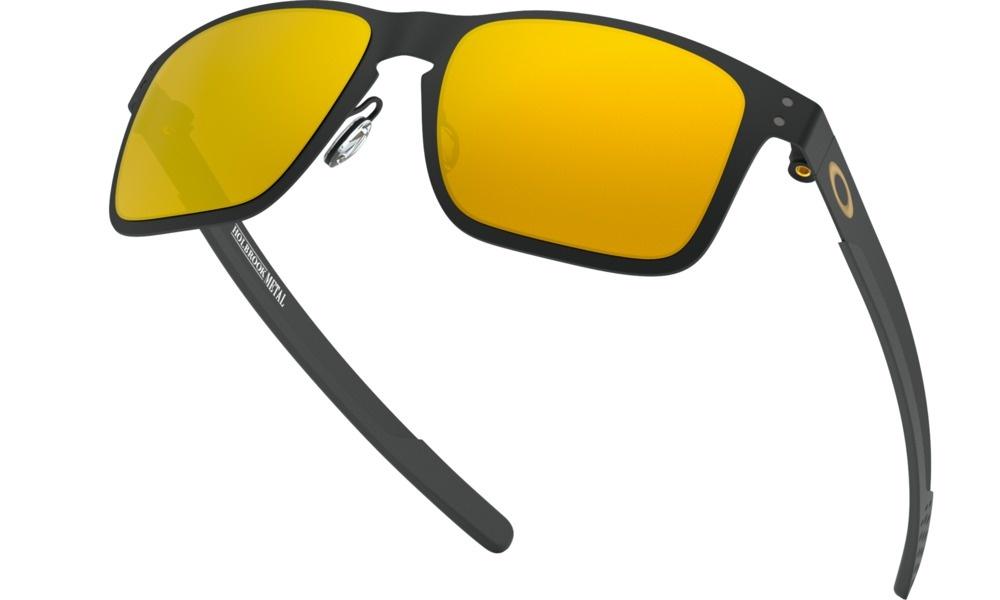 c30bbd9b850 OAKLEY Holbrook™ Metal Matte Black Sunglasses w/ 24K Iridium Lens. Press  tab to enlarge