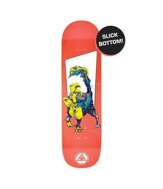 "8.5"" Pack Rabbit on Big Bunyip Skateboard Deck - White Lightning Slick"