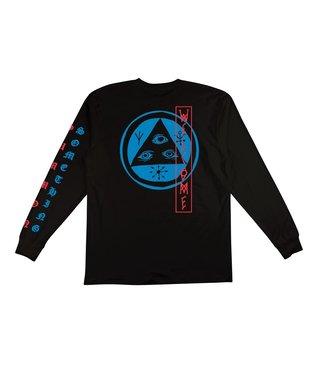 Beckon Long Sleeve Tee - Black/Blue/Red