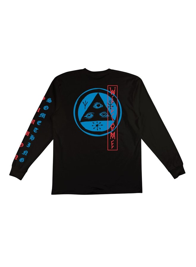 Beckon Long Sleeve Tee - Black/Blue/Red