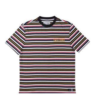 Surf Stripe Short Sleeve Knit - Black/White/Primary