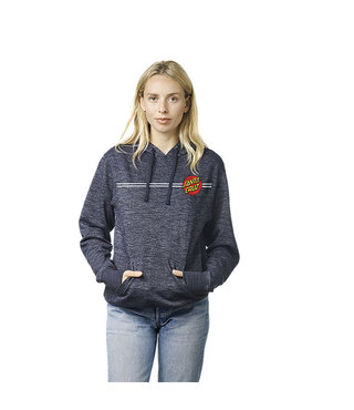 Classic Dot Pullover Hooded Womens Sweatshirt - Azul Marino
