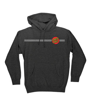 Classic Dot Pullover Hooded Mens Sweatshirt - Charcoal Heather