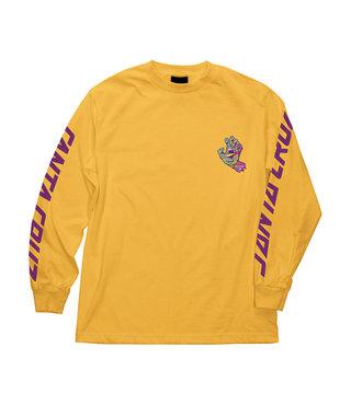 Spill Hand Long Sleeve Mens T-Shirt - Gold