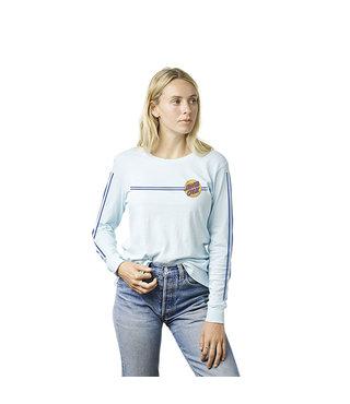 Other Dot Stripes Long Sleeve Womens T-Shirt - Light Blue