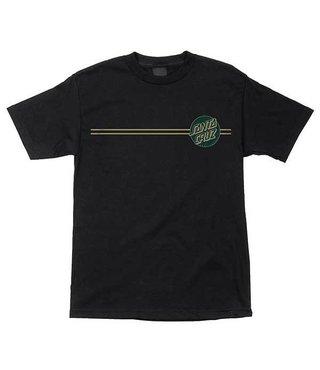 Other Dot Short Sleeve Mens T-Shirt - Black/Forest Green