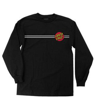 Classic Dot Long Sleeve Mens T-Shirt - Black