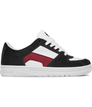 Senix Lo Skate Shoes - Black/White/Red