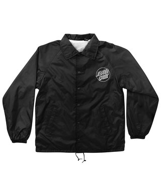 Opus Dot Santa Cruz Mens Coach Windbreaker Jacket - Black