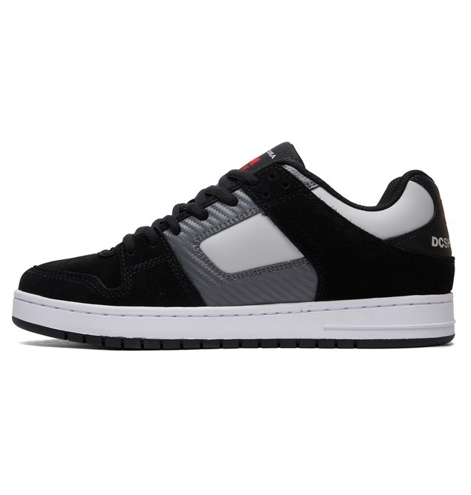 60a4cdb151a DC FOOTWEAR Manteca Men s Skate Shoes - Black Grey Red. Press tab to enlarge