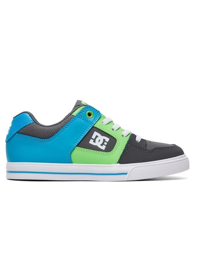 Boy's 8-16 Pure Elastic Skate Shoes - Grey/Green/Blue