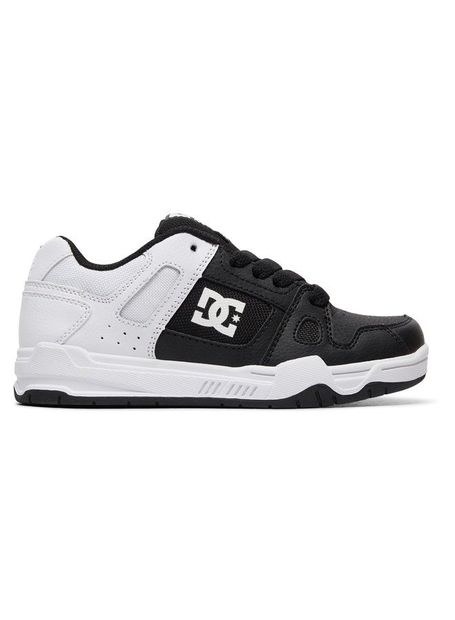 Boy's 8-16 Stag Skate Shoes - Black/White Fade