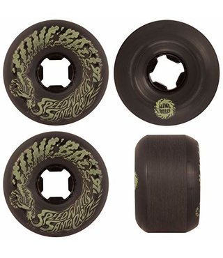 56mm Vomit Mini Black Glow 78a Slime Balls Skateboard Wheels