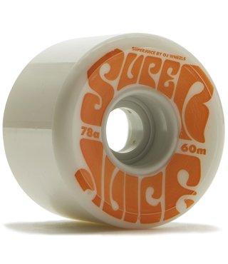 60mm Super Juice White 78a OJs Skateboard Wheels