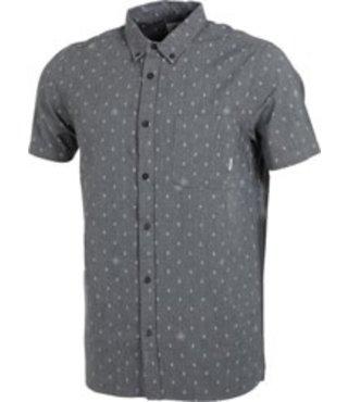 Eye Short-Sleeve Button Up Shirt - Stone Grey