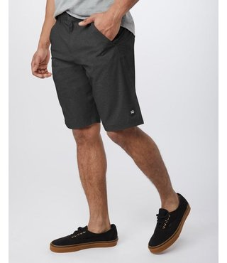 Men's Destination Short - Linen Texture AOP Meteorite Black