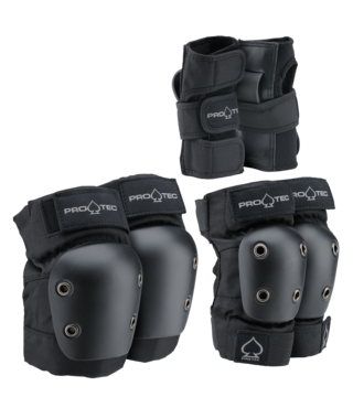 Pro-Tec Junior Street Gear 3 Pack - Black