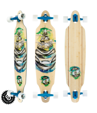 "41.125"" Sector 9 Droplet Lookout Longboard Complete"