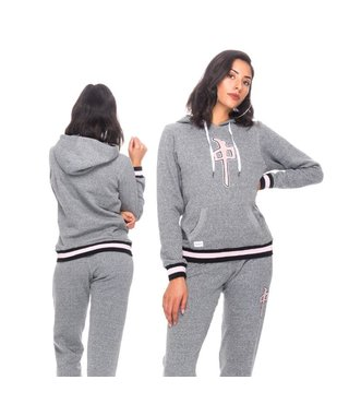 RDS Women's Hoodie Felt Chung - Heather Grey/Pink/Black
