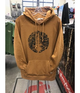Men's Pine Ripple Hoodie - Brown Sugar