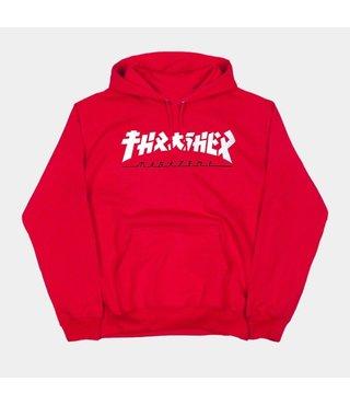 Thrasher Godzilla Hoodie - Red