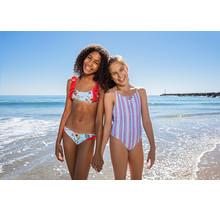 Girl's Treasure Stripe Disney One Piece Swimsuit