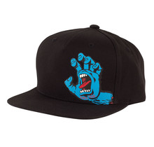 Screaming Hand Snapback High Profile Toddler Hat - Black