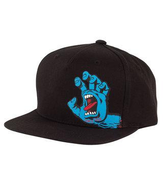 Screaming Hand Snapback High Profile Toddler Hat - Black